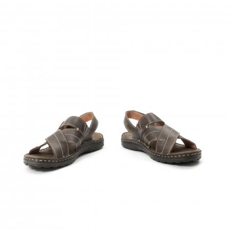 Sandale  barbat din piele naturala ,culoare maro,Leofex 7994