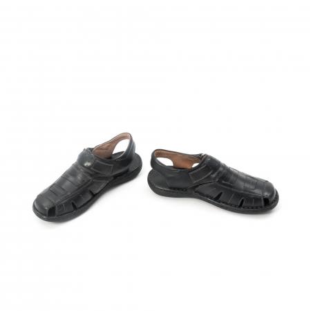 Sandale  barbat  din piele naturala ,culoare negru ,Leofex 929 .4