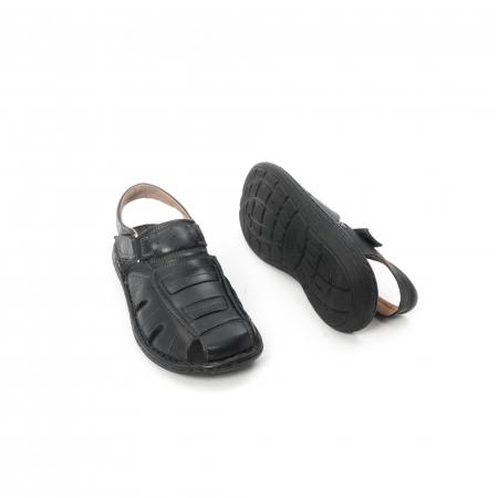 Sandale  barbat  din piele naturala ,culoare negru ,Leofex 929 .3