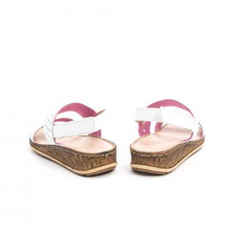 Sandale dama casual Leofex 212, piele naturala, alb6