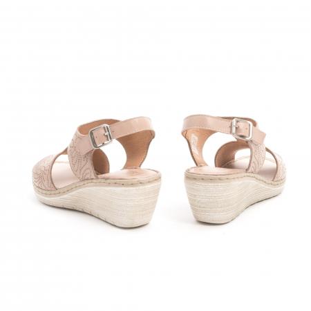 Sandale dama casual din piele naturala,Leofex  218 taupe6