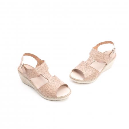 Sandale dama casual din piele naturala,Leofex  218 taupe1