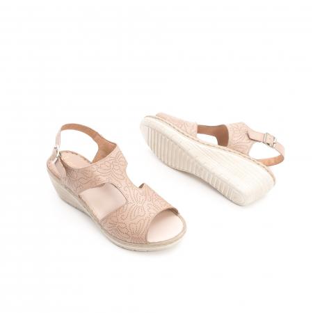 Sandale dama casual din piele naturala,Leofex  218 taupe2