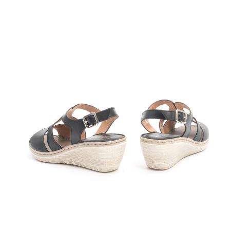 Sandale dama  casual  din piele naturala Leofex 232 negru6
