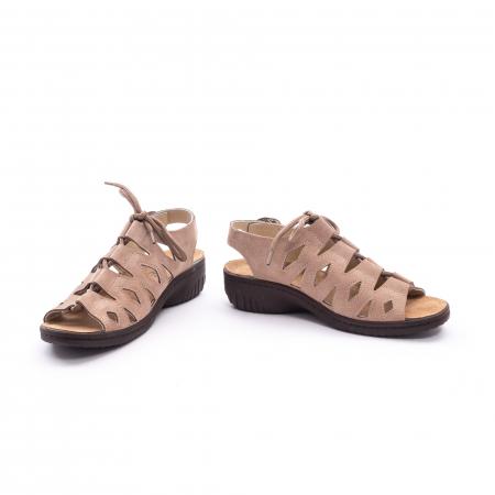 Sandale dama casual piele naturala nabuc Pass 450 03-2, bej4