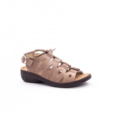Sandale dama casual piele naturala nabuc Pass 450 03-2, bej0