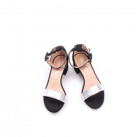 Sanda eleganta 649 negru cu argintiu.3