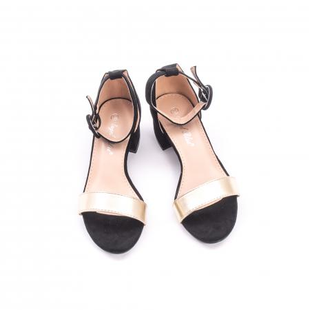Sanda eleganta 649 negru cu auriu3