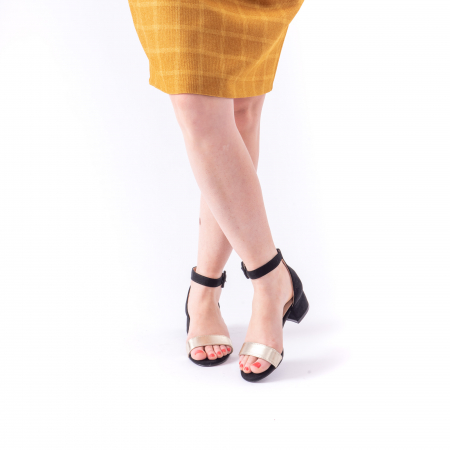 Sanda eleganta 649 negru cu auriu0