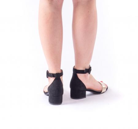 Sanda eleganta 649 negru cu auriu4