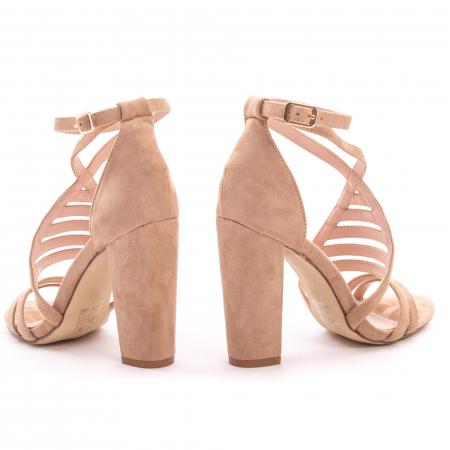 Sandale dama elegante piele ecologica Angel Blue 663, nude4