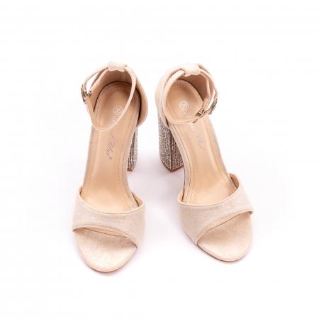 Sandale dama elegante Angel Blue 650, piele eco, nude1