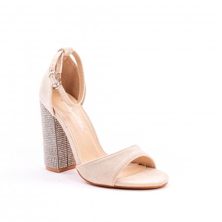 Sandale dama elegante Angel Blue 650, piele eco, nude0