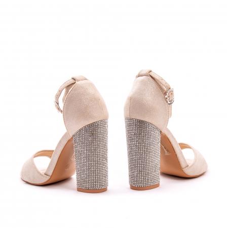 Sandale dama elegante Angel Blue 650, piele eco, nude2