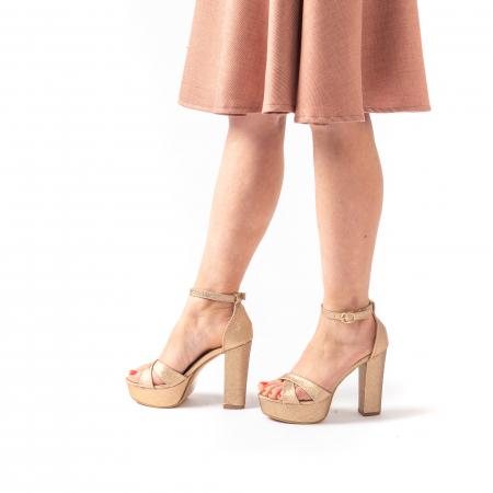 Sandale elegante dama cu platforma AB734 auriu [1]