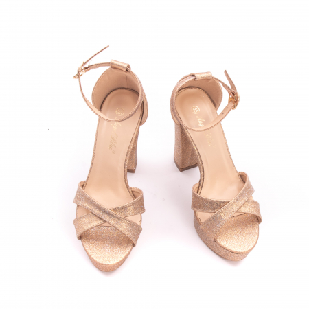 Sandale elegante dama cu platforma AB734 auriu [3]