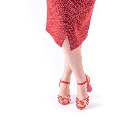 Sandale dama elegante Epica OE8643 05-2, rosu3