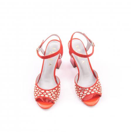 Sandale dama elegante Epica OE8643 05-2, rosu1