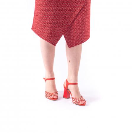 Sandale dama elegante Epica OE8643 05-2, rosu5