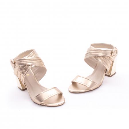 Sandale dama elegante piele naturala Epica oe8785-274, auriu1