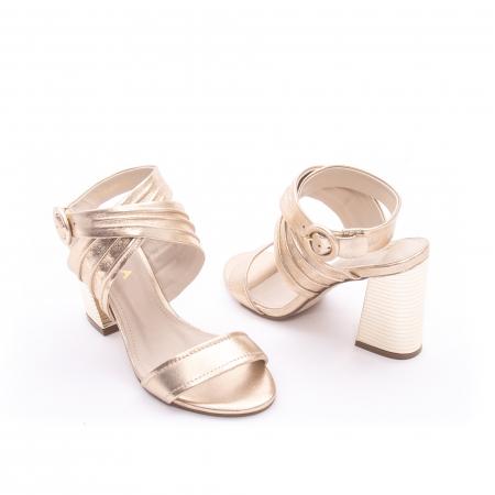 Sandale dama elegante piele naturala Epica oe8785-274, auriu3