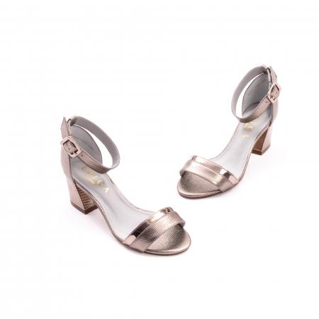 Sandale dama elegante piele naturala Epica oe8650 17-E, bronz1