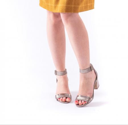 Sandale dama elegante piele naturala Epica oe8650 17-E, bronz3