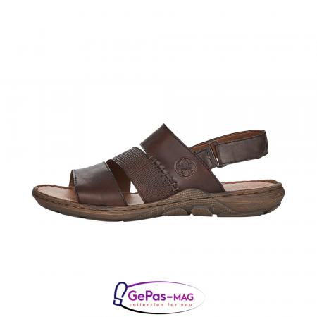 Sandale barbati, piele naturala, maro, 22079-254