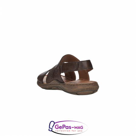 Sandale barbati, piele naturala, maro, 22079-253