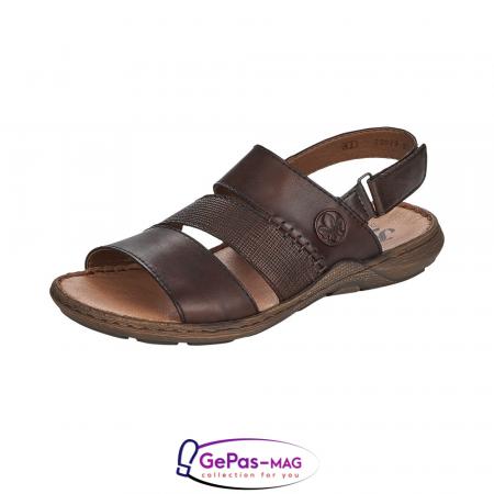 Sandale barbati, piele naturala, maro, 22079-250