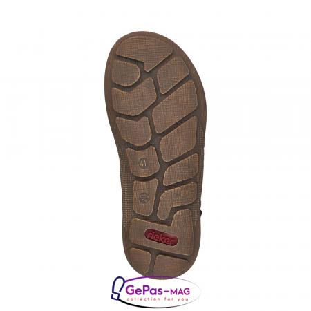 Sandale barbati, piele naturala, maro, 22079-255