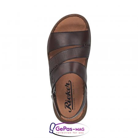 Sandale barbati, piele naturala, maro, 22079-251