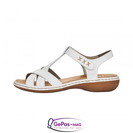 Sandale dama casual, piele naturala, 65919-803