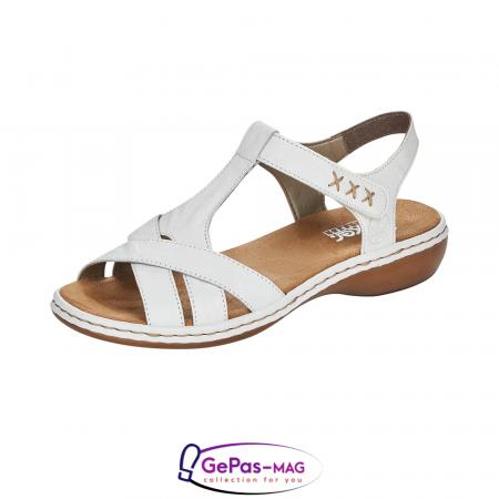 Sandale dama casual, piele naturala, 65919-800