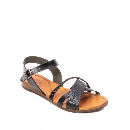 Sandale dama casual, piele naturala, E51500 L2-N0
