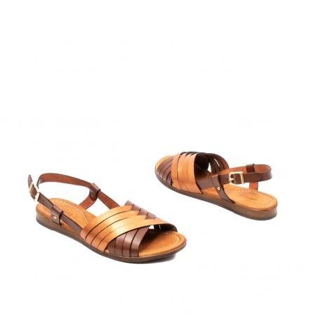 Sandale dama casual, piele naturala, E51503 02-N2