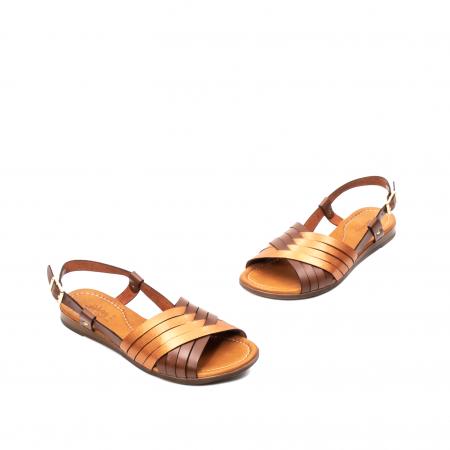 Sandale dama casual, piele naturala, E51503 02-N1