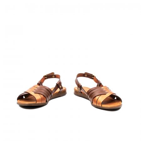 Sandale dama casual, piele naturala, E51503 02-N4
