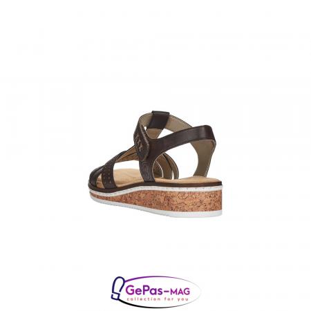 Sandale casual dama, piele naturala, V3677-252