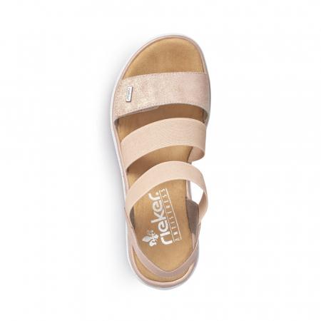 Sandale dama casual, piele naturala, RIK V4422-314