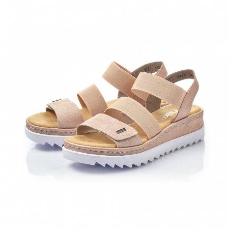 Sandale dama casual, piele naturala, RIK V4422-313