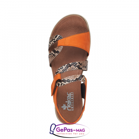 Sandale dama, piele naturala, multicolor, V5069-241
