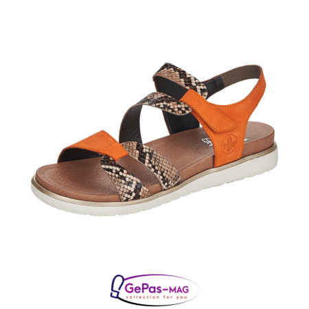 Sandale dama, piele naturala, multicolor, V5069-240