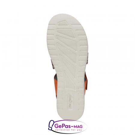 Sandale dama, piele naturala, multicolor, V5069-245