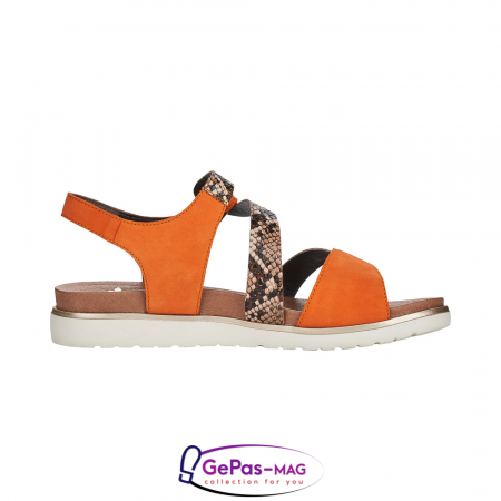 Sandale dama, piele naturala, multicolor, V5069-244
