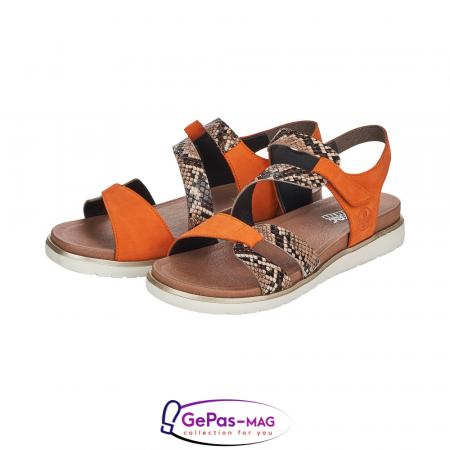 Sandale dama, piele naturala, multicolor, V5069-246