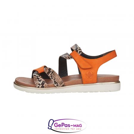 Sandale dama, piele naturala, multicolor, V5069-242