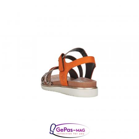 Sandale dama, piele naturala, multicolor, V5069-243