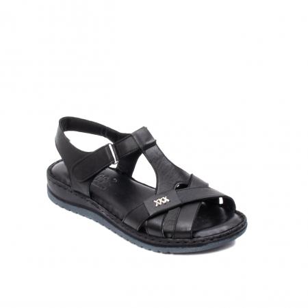 Sandale dama casual, piele naturala, Y2135 01-N