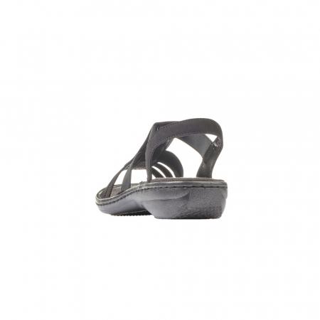 Sandale dama casual, piele ecologica, RIK 60870-002